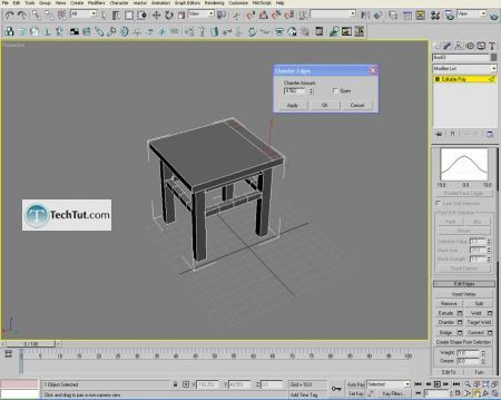 Tutorial Creating a chair object in 3D max part 1 13