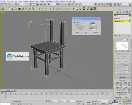 Tutorial Creating a chair object in 3D max part 1 14