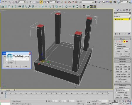 Tutorial Creating a chair object in 3D max part 1 4