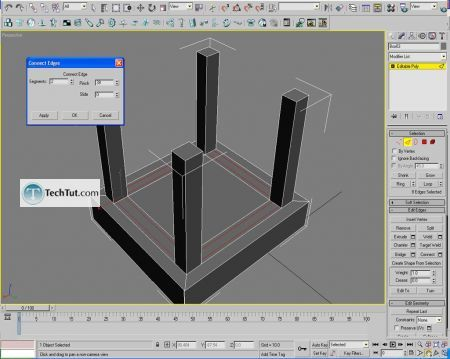 Tutorial Creating a chair object in 3D max part 1 5