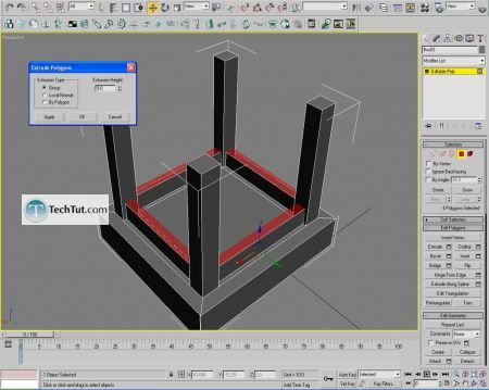 Tutorial Creating a chair object in 3D max part 1 6