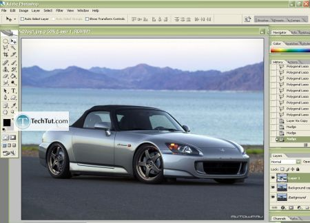 Car Tuning Photoshop Tutorial Lowering Photoshop Tutorial