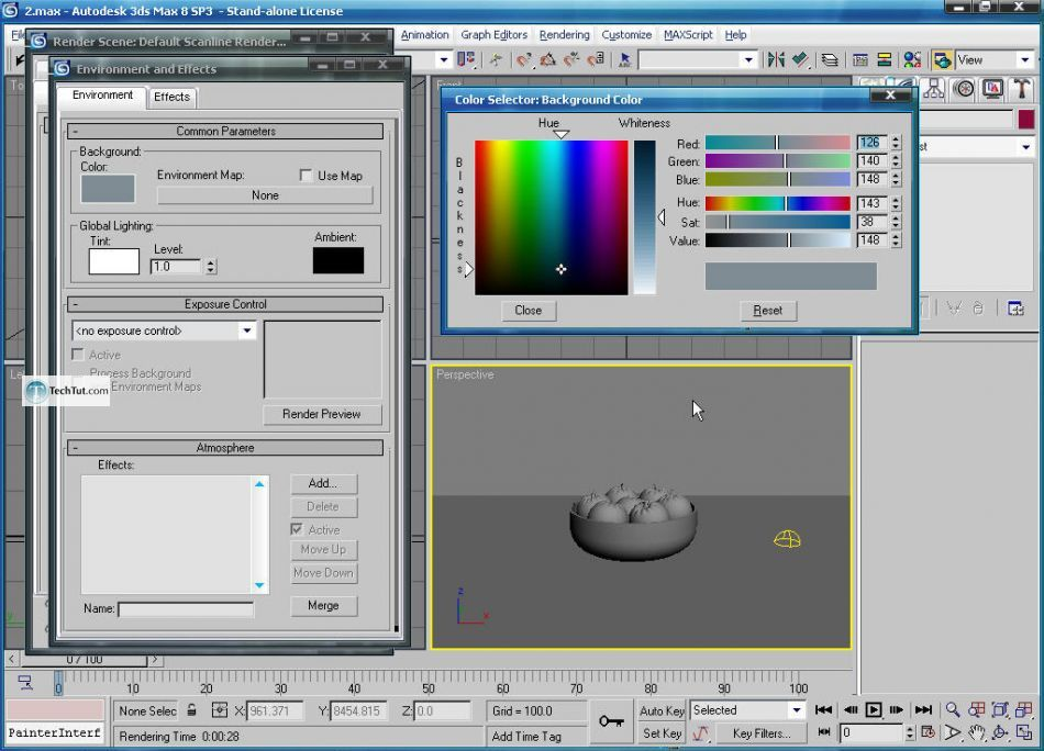 Create apple bowl in 3D max
