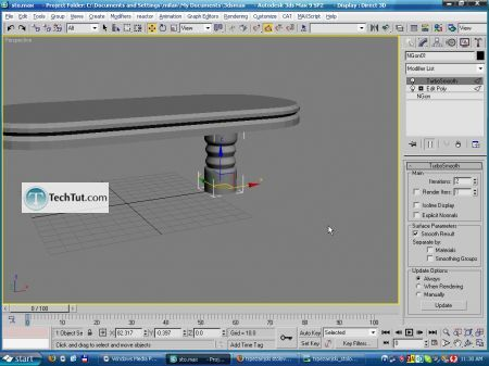 Tutorial Create a model of modern kitchen table 12