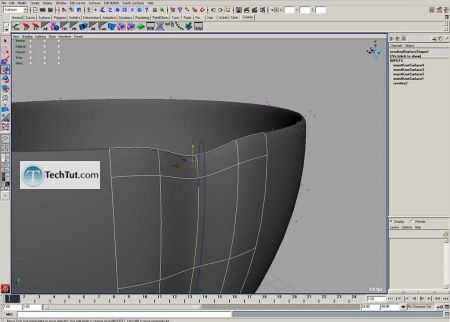 Tutorial Coffee cup model done in Maya part 1 10