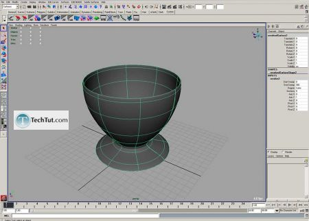Tutorial Coffee cup model done in Maya part 1 3