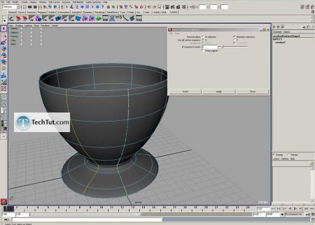 Tutorial Coffee cup model done in Maya part 1 4