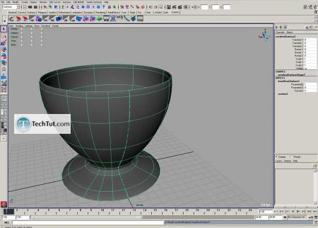 Tutorial Coffee cup model done in Maya part 1 5