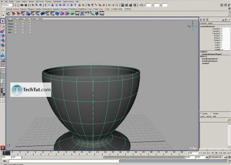 Tutorial Coffee cup model done in Maya part 1 6