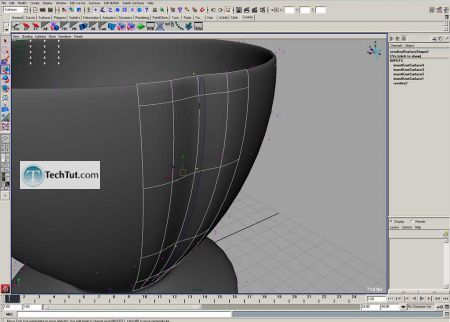 Tutorial Coffee cup model done in Maya part 1 8