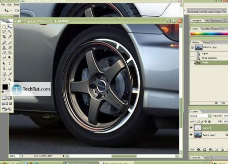 Tutorial Replace rim photoshop tutorial 5