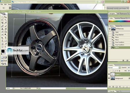 Tutorial Replace rim photoshop tutorial 6