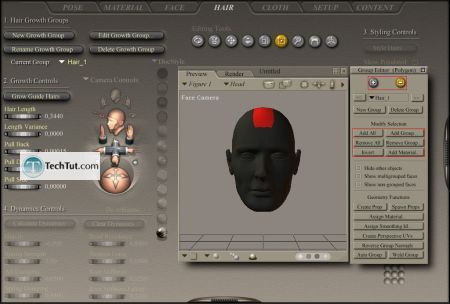 Creating hair in Poser Poser tutorial